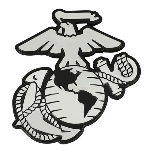 U.S. Marines Chrome Metal Emblem - Marines Logo