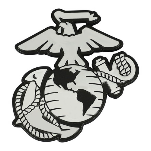 U.S. Marines Chrome Metal Emblem - Marines Logo