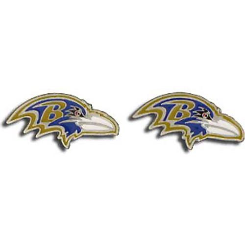 Baltimore Ravens NFL 3D Stud Logo Earrings