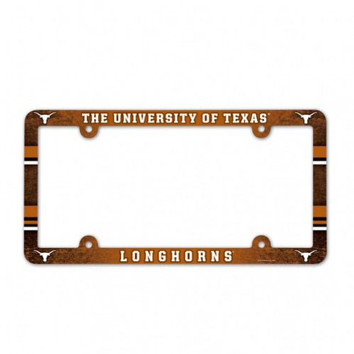 Texas Longhorns Color License Plate Frame
