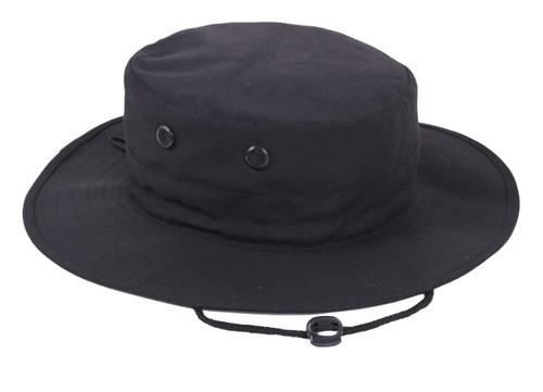 Solid Black Adjustable Boonie Hat