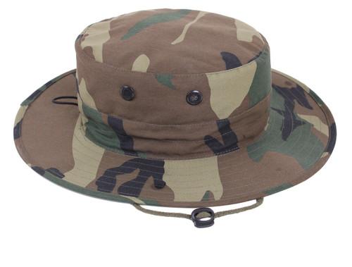 Woodland Camo Adjustable Boonie Hat