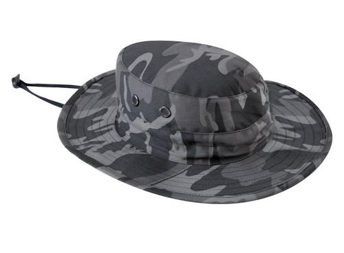 Black Camo Adjustable Boonie Hat