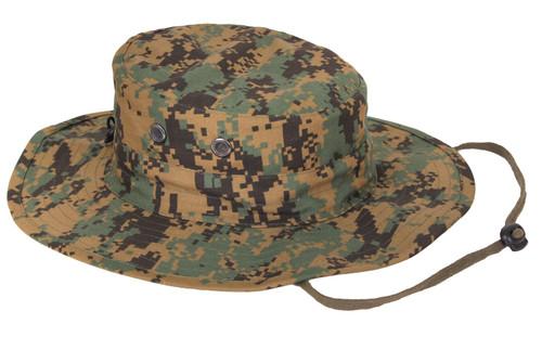 Woodland Digital Camo Adjustable Boonie Hat