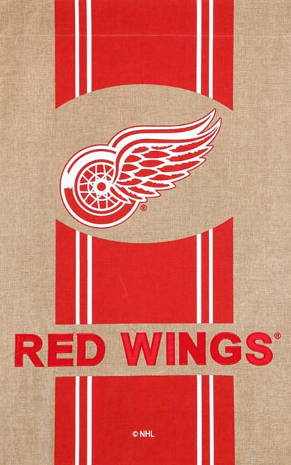 Detroit Red Wings Burlap Flag