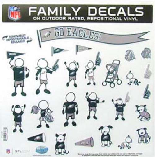 Philadelphia Eagles Family Decal Set