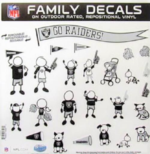Las Vegas Raiders Family Decal Set