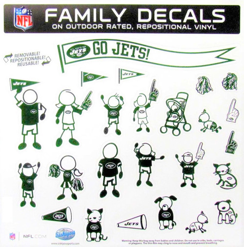 New York Jets Family Decal Set