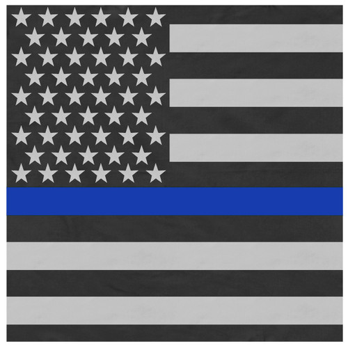 Thin Blue Line American Flag Bandana - Large