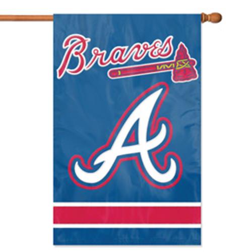 Atlanta Braves 2 Sided Vertical Banner Flag