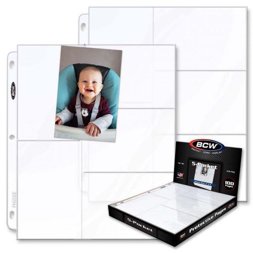 Pro 5-Pocket Photo Page (100 CT. Box)