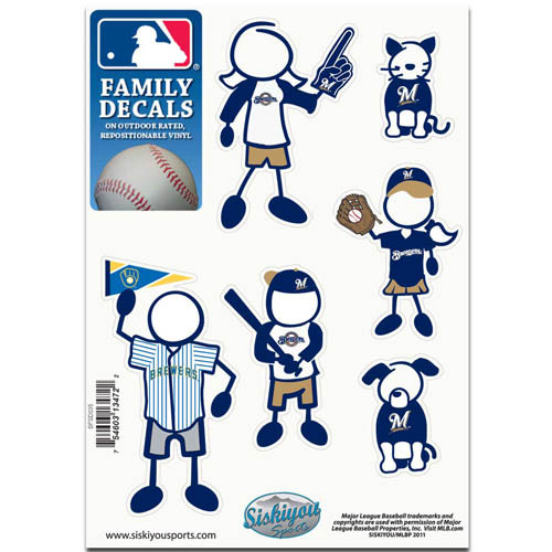 Milwaukee Brewers Family Decal Set