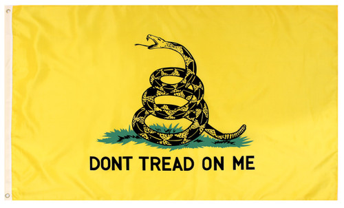 Don't Tread On Me 3' x 5' Flag - Yellow
