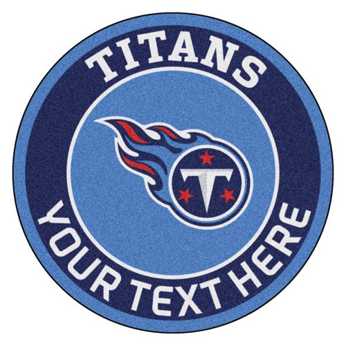 Tennessee Titans Personalized Round Mat