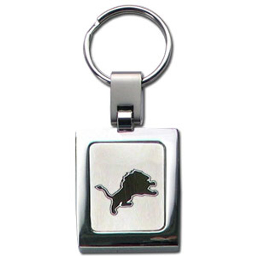 Detroit Lions Laser Etched Key Chain - Square