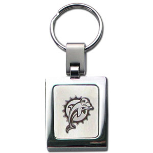 Miami Dolphins Laser Etched Key Chain - Square