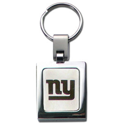 New York Giants Laser Etched Key Chain - Square