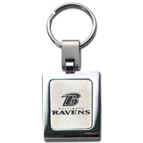 Baltimore Ravens Laser Etched Key Chain - Square