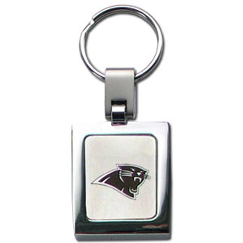 Carolina Panthers Laser Etched Key Chain - Square