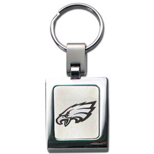 Philadelphia Eagles Laser Etched Key Chain - Square