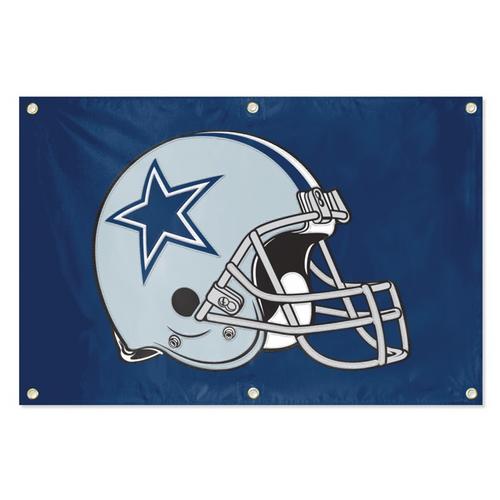 Dallas Cowboys Banner Flag - Helmet
