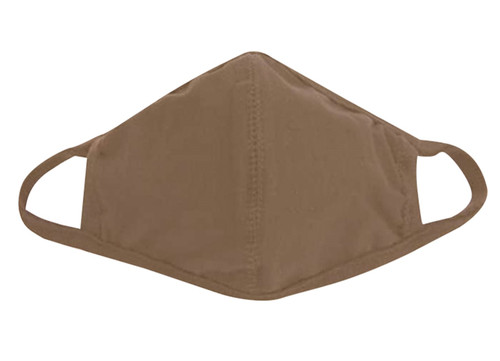 Tan 3 Layer Polyester Face Mask