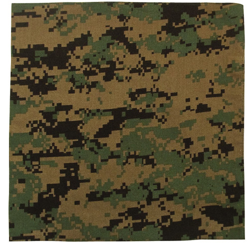 Woodland Digital Camo Bandana - Large