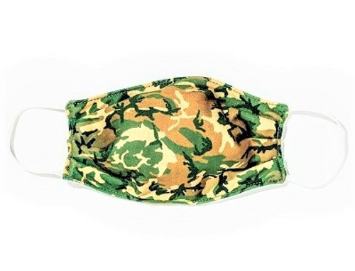 Woodland Camo Colored Face Mask