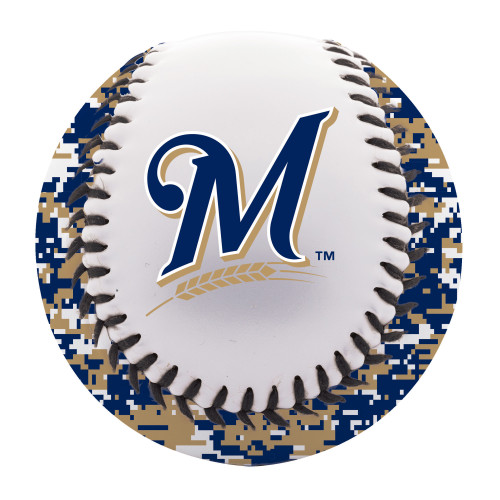Milwaukee Brewers Digital Camo Soft Strike Baseball