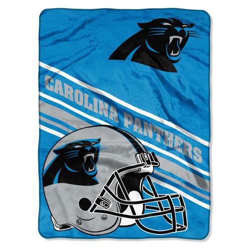 Carolina Panthers 60 x 80 Raschel Throw Blanket Slant Design