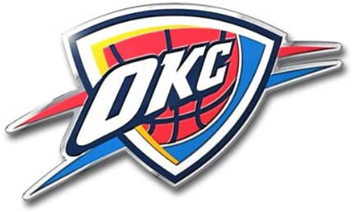 Oklahoma City Thunder Embossed Color Emblem
