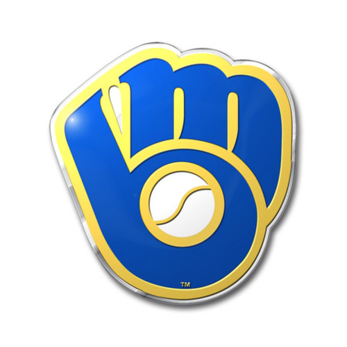 Milwaukee Brewers Embossed Color Emblem