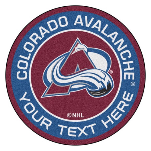 Colorado Avalanche Personalized Round Mat