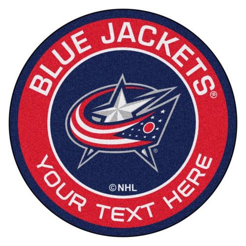 Columbus Blue Jackets Personalized Round Mat