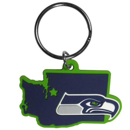 Seattle Seahawks Home State Flex Key Chain