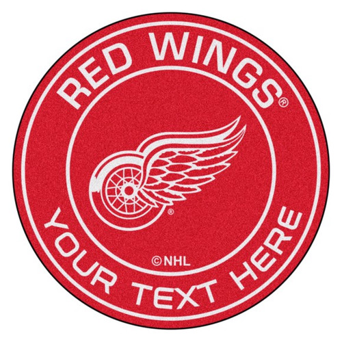 Detroit Red Wings Personalized Round Mat