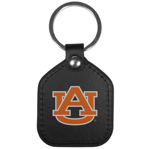 Auburn Tigers Leather Square Key Chain