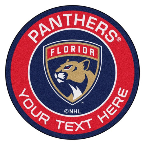 Florida Panthers Personalized Round Mat