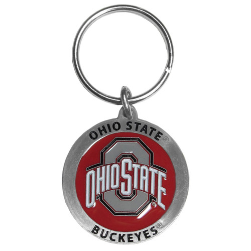 Ohio State Buckeyes Carved Metal Key Chain