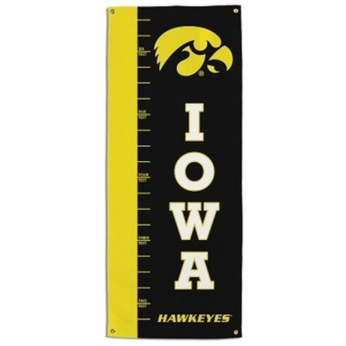 Iowa Hawkeyes Growth Chart Banner