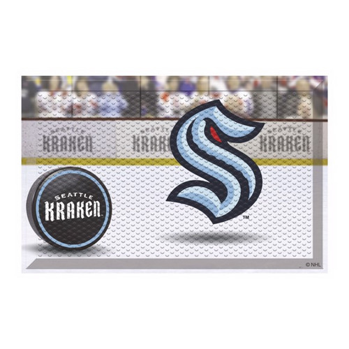 Seattle Kraken NHL Hockey Rink Scraper Mat