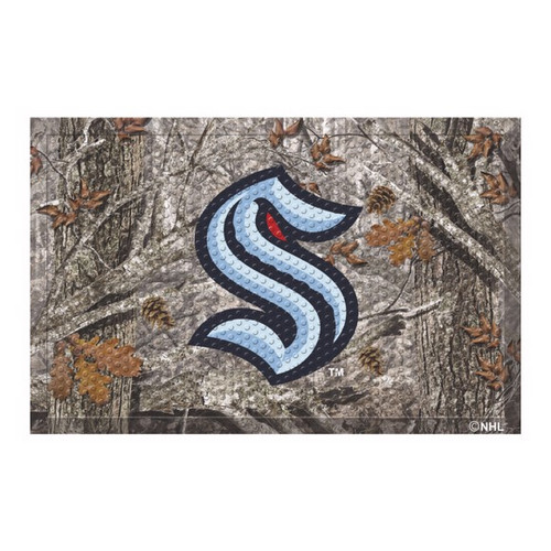 Seattle Kraken NHL Hockey Camo Scraper Mat