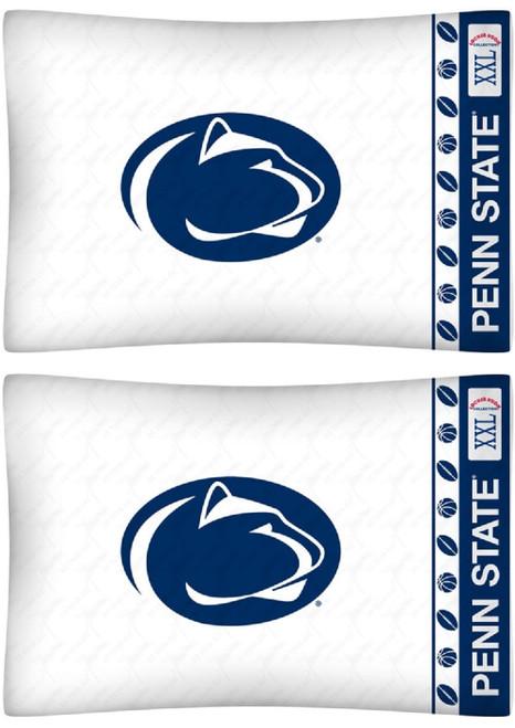 Penn State Nittany Lions Pillowcase Set - Penn State Logo