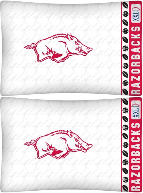 Arkansas Razorbacks Pillowcase Set - Razorbacks Logo