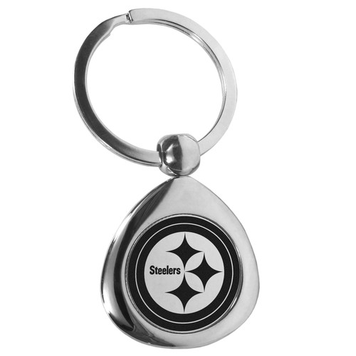 Pittsburgh Steelers Round Teardrop Key Chain
