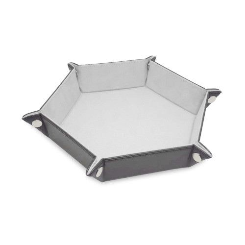Hexagon Dice Tray- White