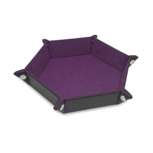 Hexagon Dice Tray- Purple