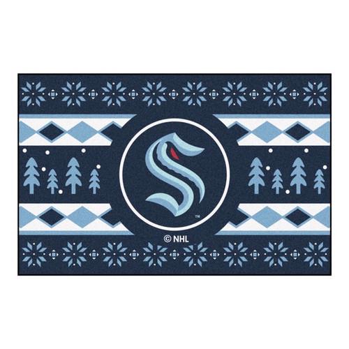 Seattle Kraken Holiday Sweater Mat