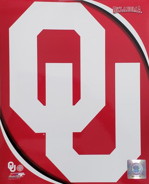 """Oklahoma Sooners University NCAA Logo Photo - 8"""" x 10"""""""
