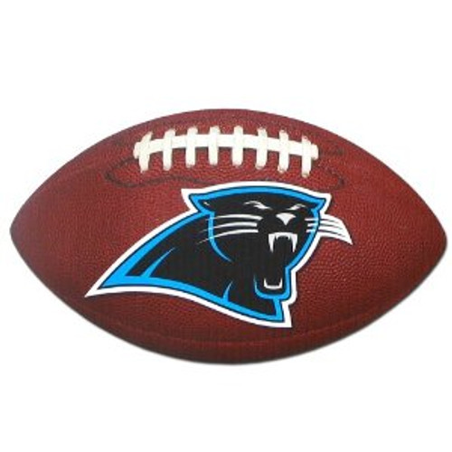 Carolina Panthers NFL Football Shaped Magnet - Panthers Logo